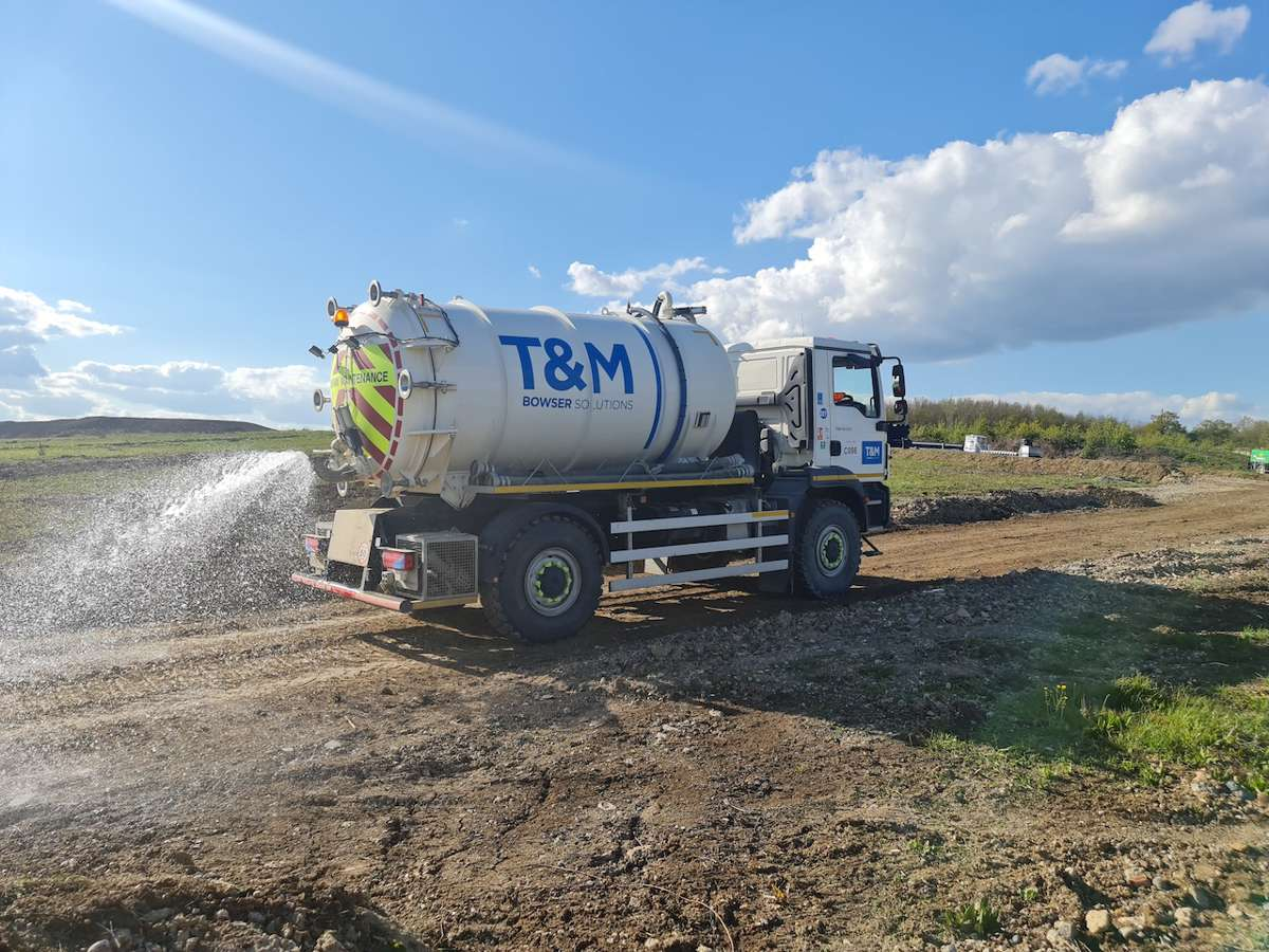 T&M combats dusty construction sites with Dust Suppression fleet