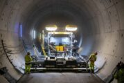 Paving the longest rail tunnels in Germany needs VÖGELE Super Paver power