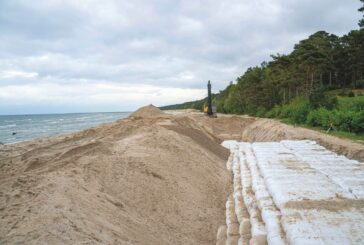 Coastal protection with Geotextile Wall of Secutex® Soft Rock