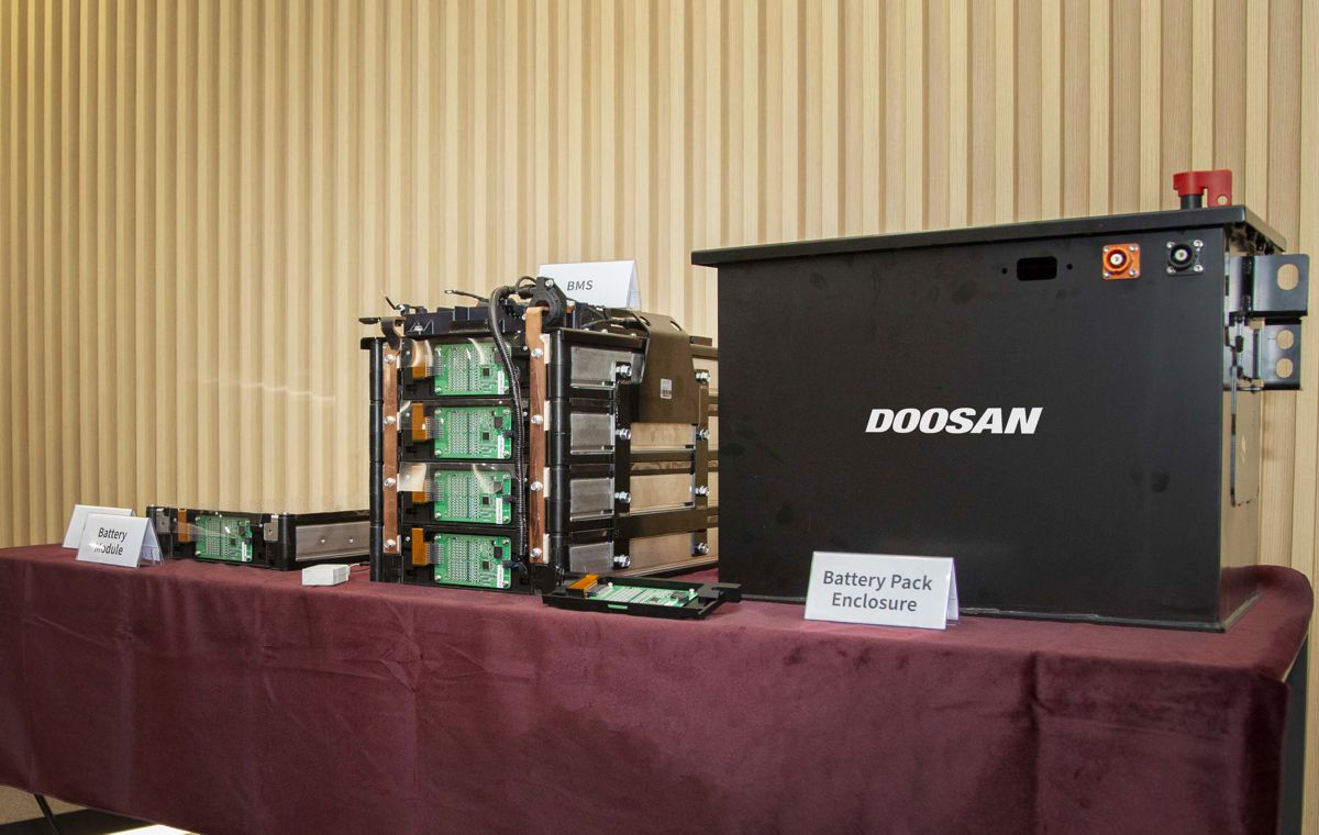 Doosan Infracore accelerates Battery Pack business with new prototype