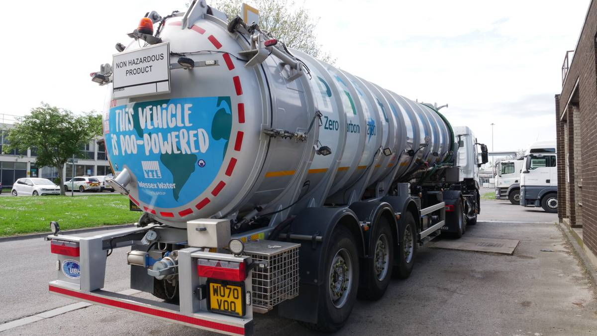 Wessex Water sewage and food waste powered trucks set to hit the road