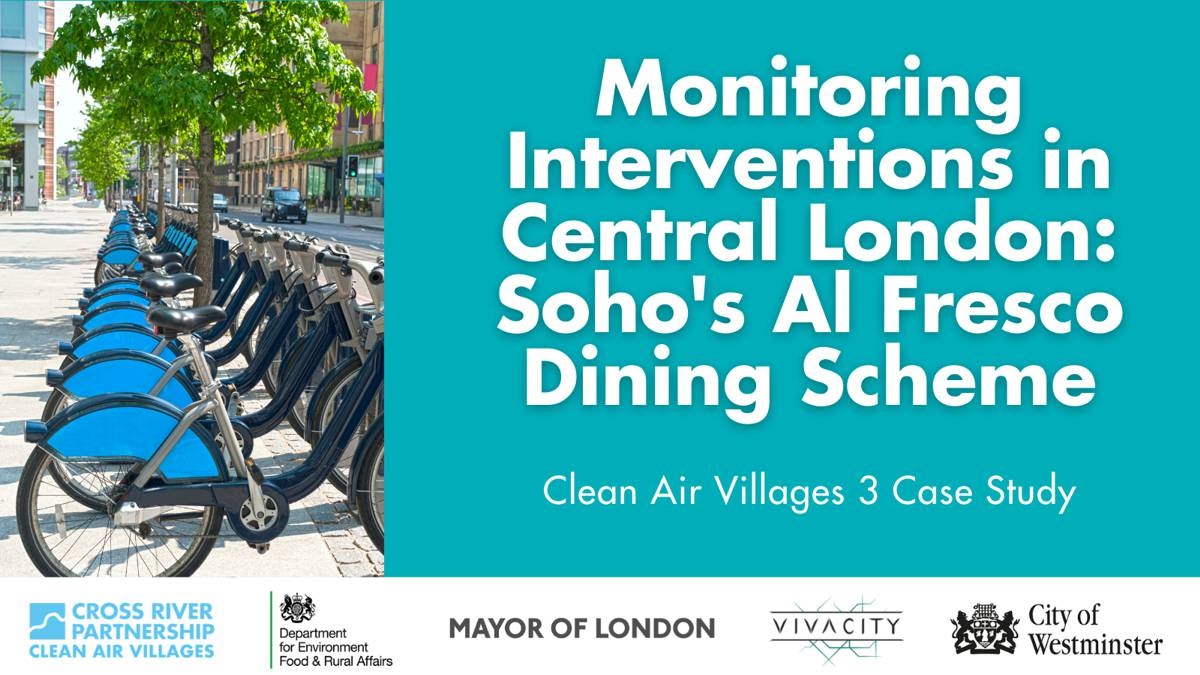 Cross River Partnership and Vivacity Labs partner on Clean-air interventions in London