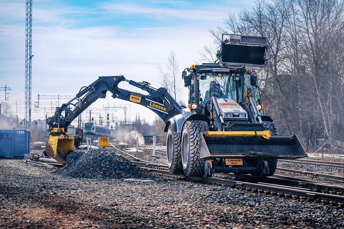 Nokian introduces Ground Kare Semi-Slick tyre for backhoe loaders on the railways
