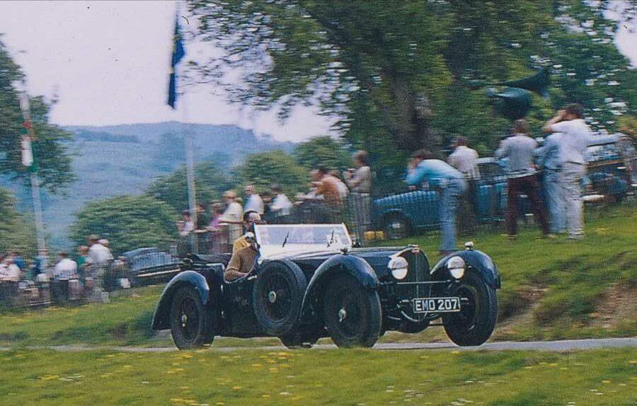Bill Turnbull driving his Bugatti