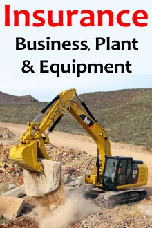 Construction business, plant and equipment Insurance