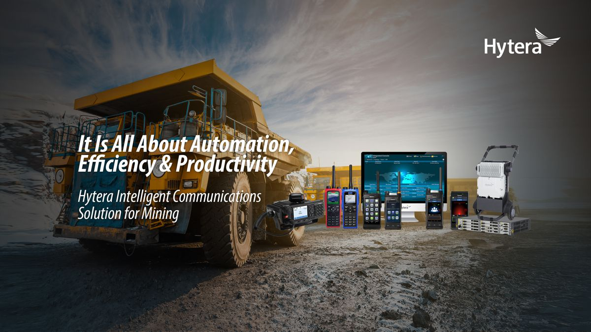 Hytera 4G LTE communications support surface, strip, open-pit and underground mining