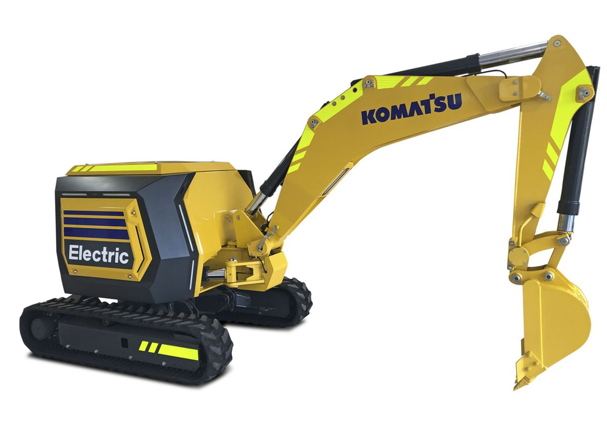Komatsu concept mini-excavator is fully electric and remote-controlled