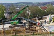 Compact SENNEBOGEN 613E telescopic crawler crane perfect for Pipeline construction