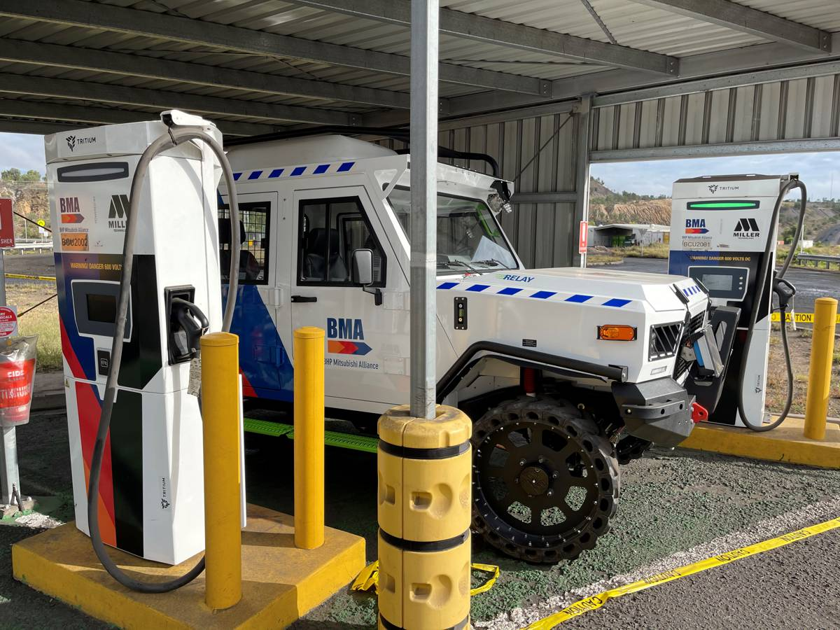 Tritium pioneers fast chargers for the Mining Industry