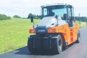 HAMM HP pneumatic-tyre rollers feature large water tanks for non-stop performance