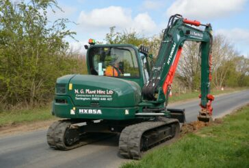 Only the best Hyundai HX85A midi-excavator for N G Plant Hire
