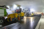 Switzerland's widest tunnel gets the VÖGELE WITOS Smart Paving treatment