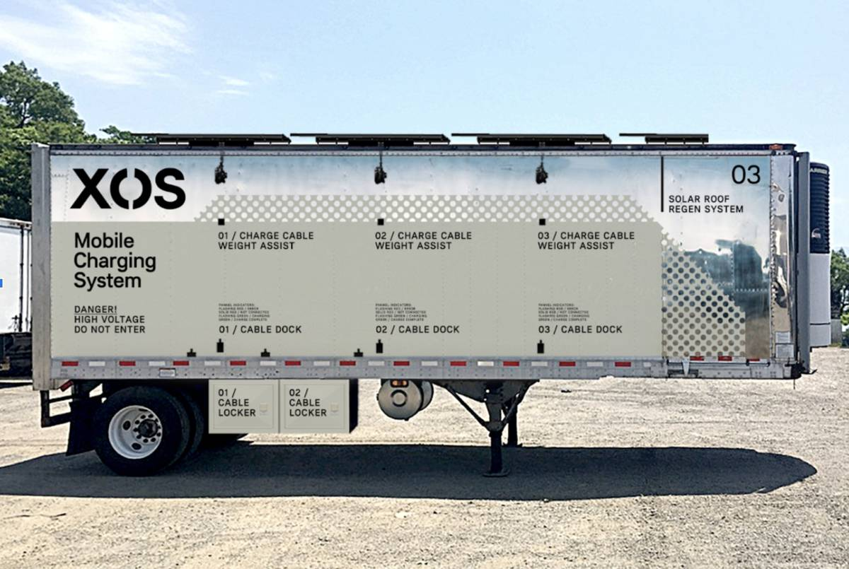 Xos Hub Mobile Charging Station set to help Commercial Fleets