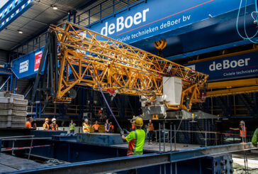 Tallest building in Rotterdam gets a lift from a Liebherr fast-erecting 34K crane