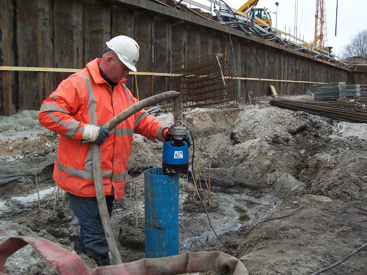 When there's not enough space for dewatering you need a Tsurumi pump