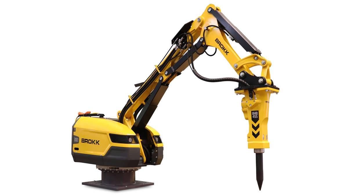 Brokk announces new Pedestal Boom for Plug-and-play efficient breaking