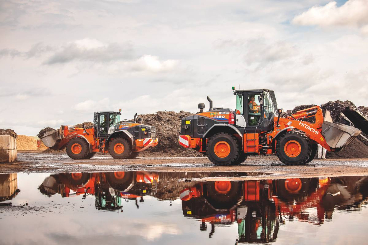 Service and quality puts Hitachi Wheel Loaders in first place for Recycling company