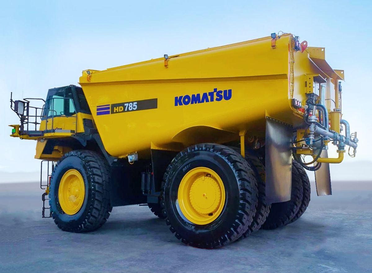 Komatsu working on a concept autonomous water truck
