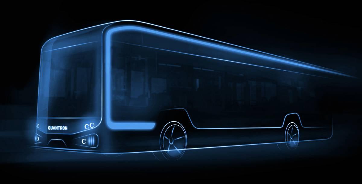 Quantron premiers their electric 12-metre bus
