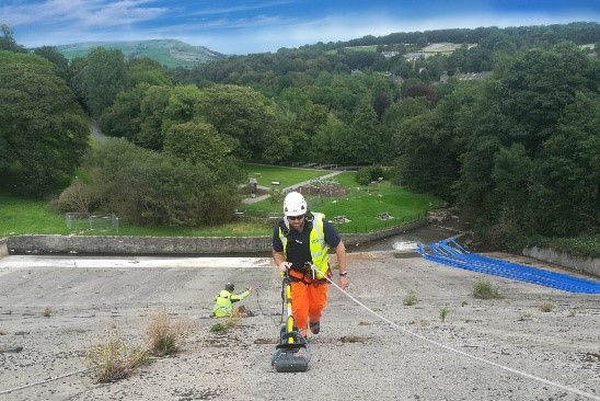 data collection using GPR.