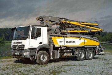 Liebherr introduces new versatile 36 XXT truck mounted concrete pumps