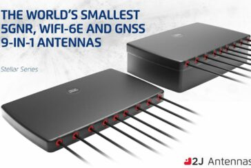 2J Antennas launch smallest 5GNR, WiFi-6E and GNSS combination 9-in-1 antenna
