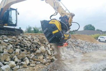 MB Crusher quickly separates out rebar without hindering the job site