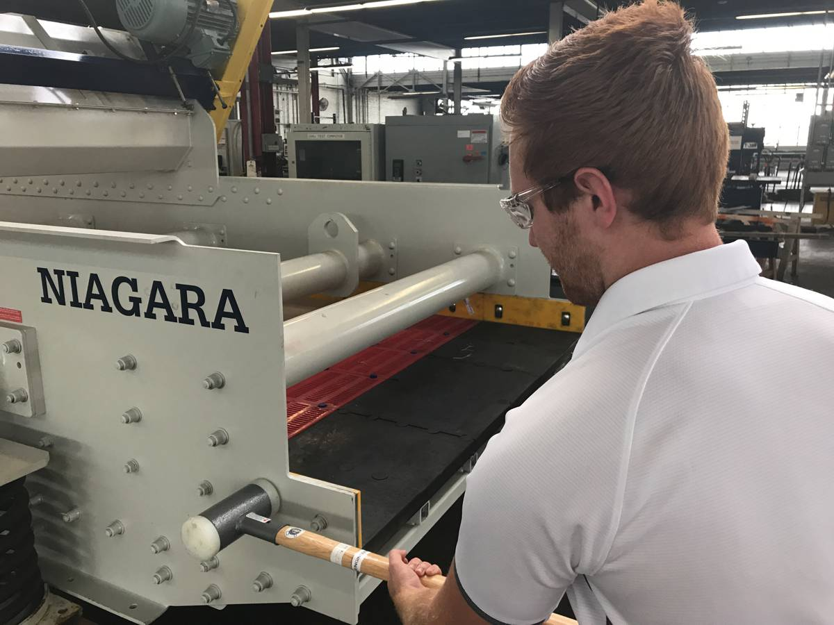 Haver and Boecker Niagara launch Pulse Impact Test with experimental modal analysis