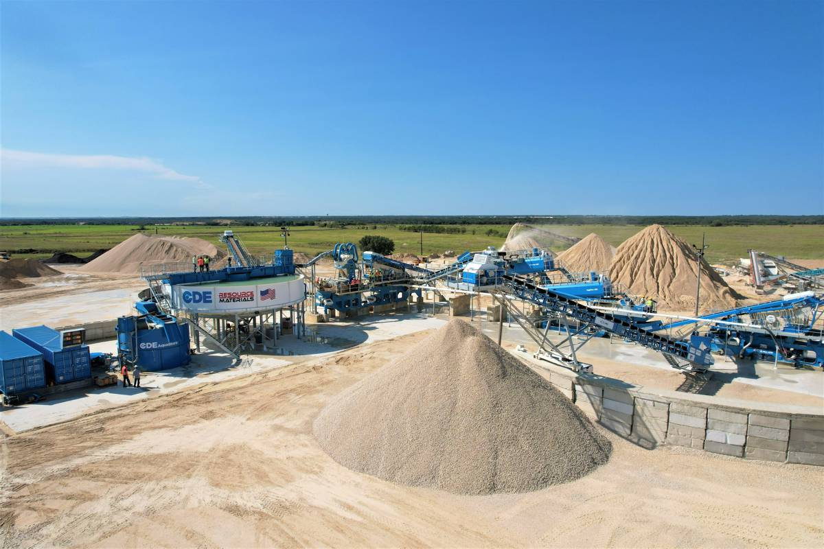 Resource Materials in Texas invests in new CDE 450tph Wash Plant