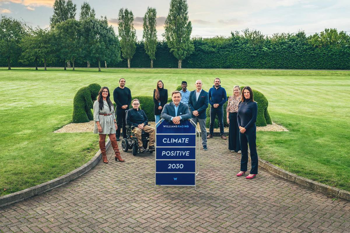 Williams Racing revealssustainability strategy to be climate positive by 2030
