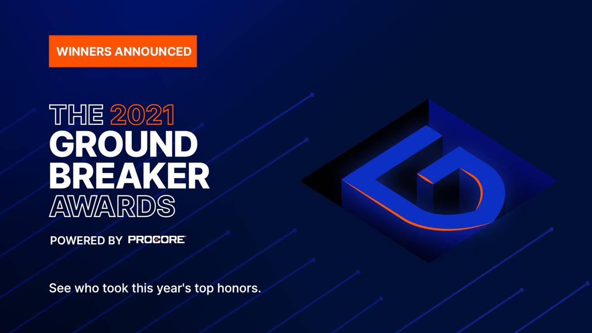 Procore announcesGroundbreaker 2021 awards winners